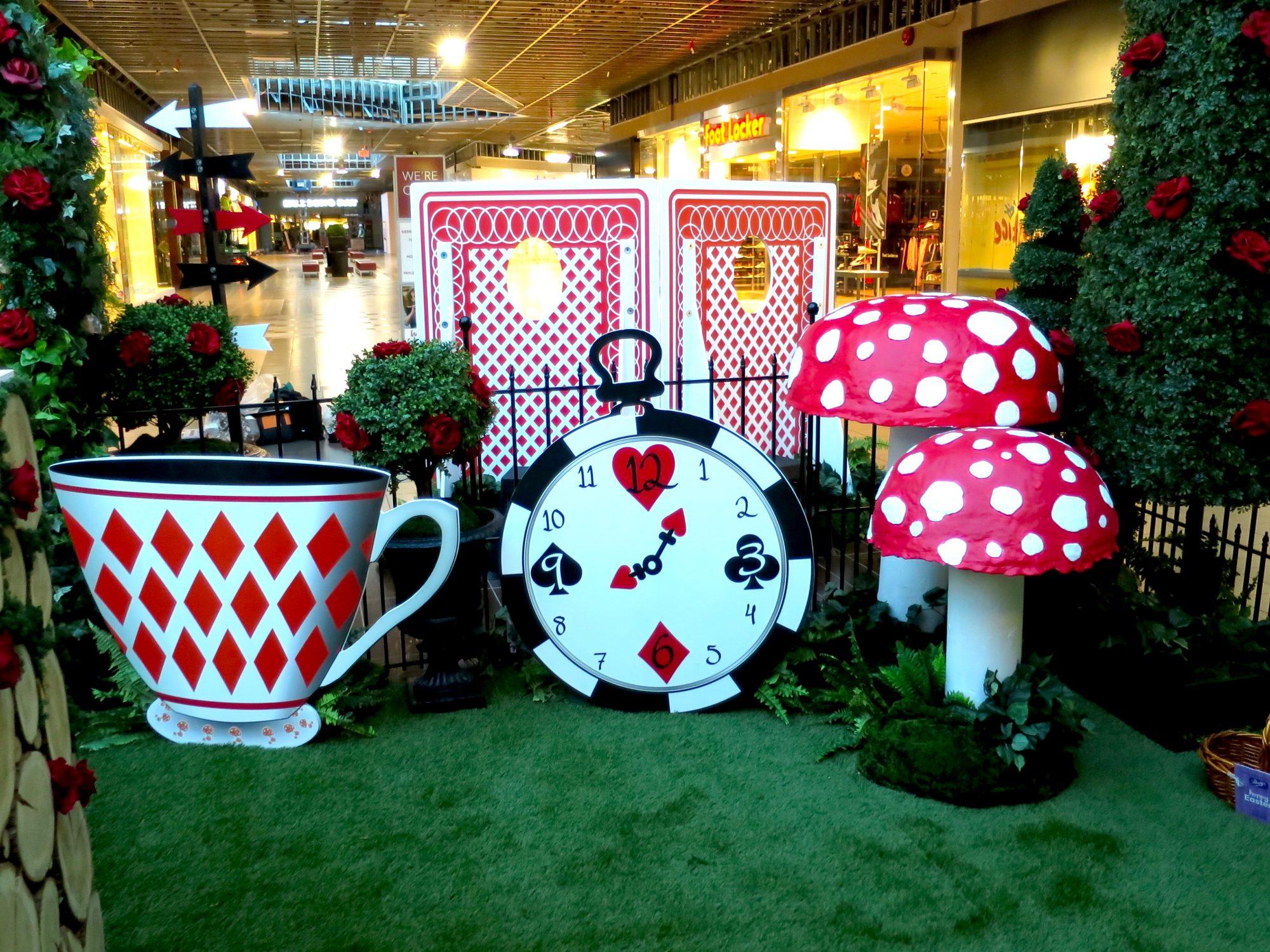 Alice In Wonderland Easter Set Design Shopping Centre