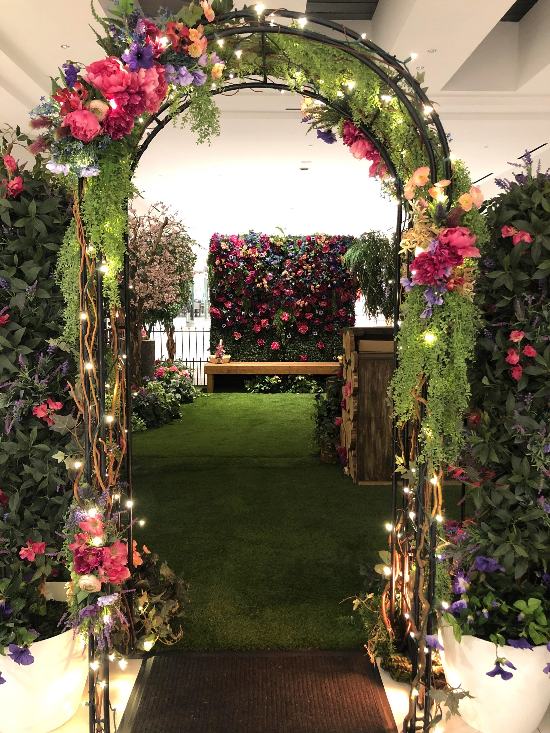 Easter set, secret garden arch and floral backdrop