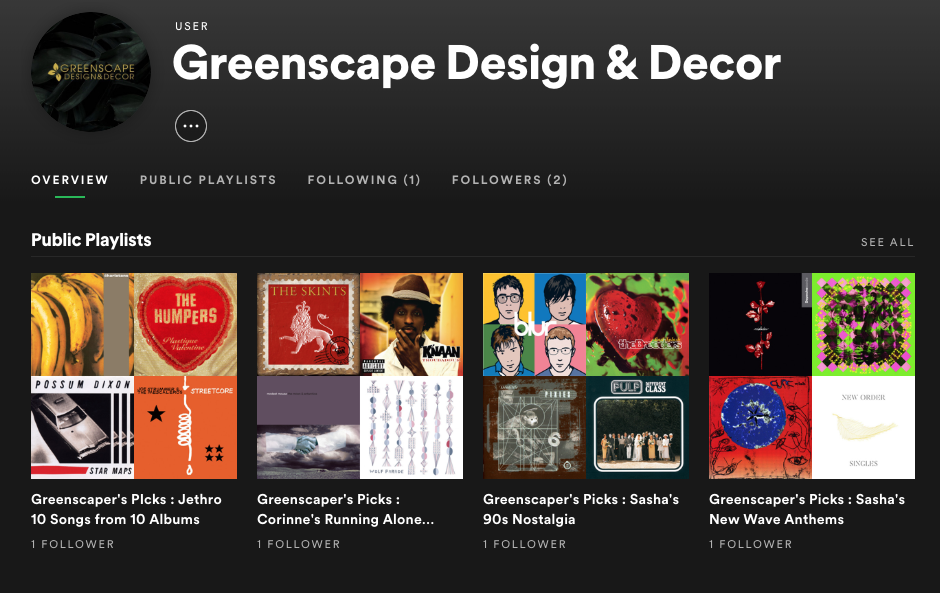 Greenscape on Spotify