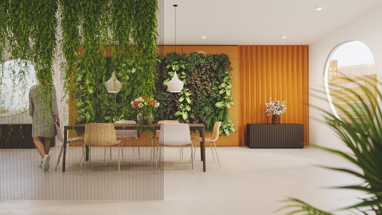 Preserved plants interior design