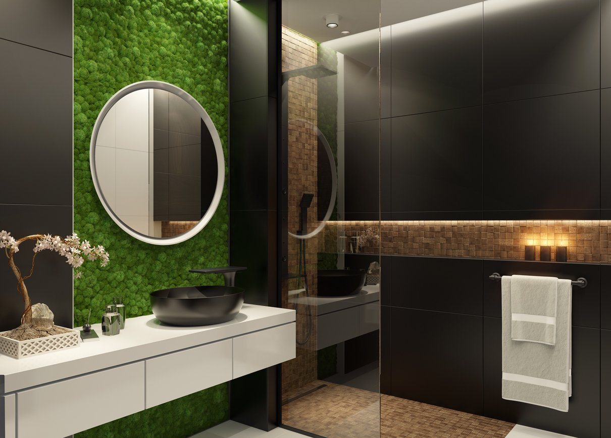 Preserved plants interior designs for residential uses