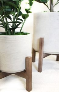 Artificial Plants for Indoor Spaces in Concrete Planters are Modern and Chic for your Interior Designs