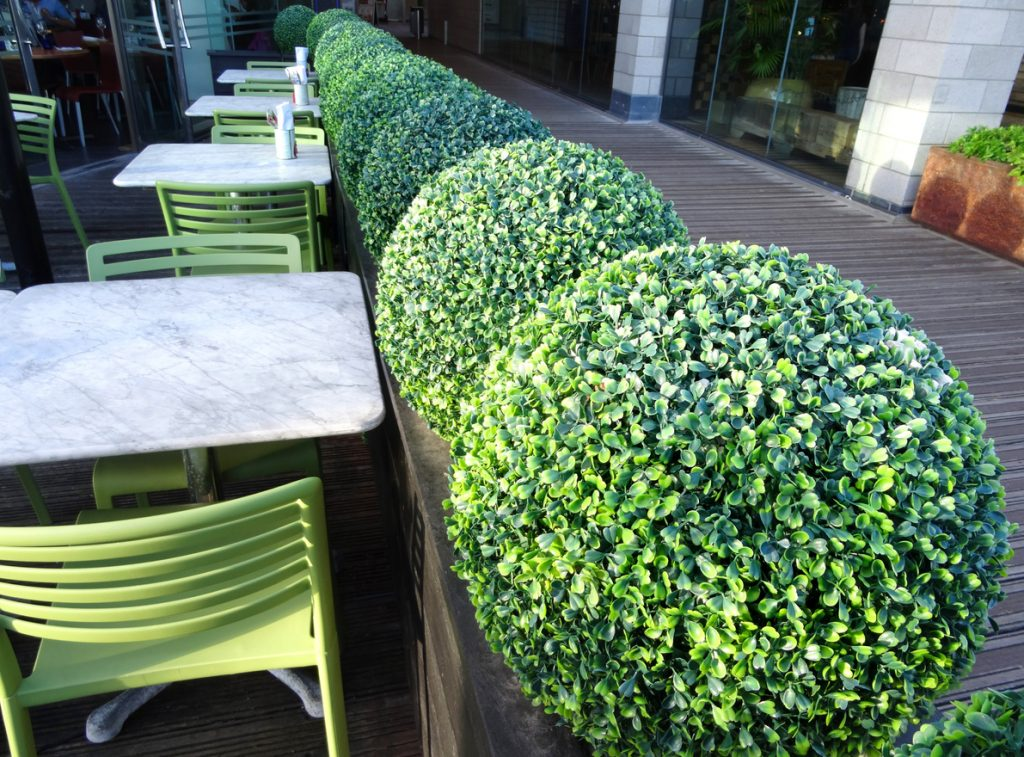 artificial plants for outdoor spaces