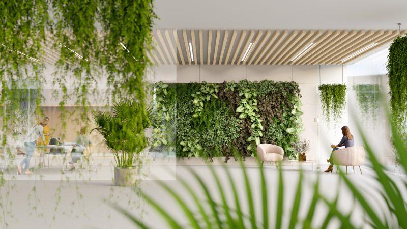 Faux Plants Office Decor